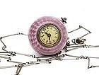 Bucherer Guilloche Pink Enamel Lady Pendant Ball Watch