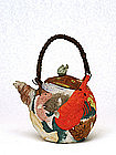 Old Japanese Banko Crab Fish Lobster Stinger Teapot