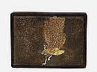 Old Japanese Gold Mixed Metal Komai Peacock Box