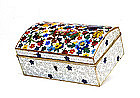 Old Japanese Cloisonne Mille Fleur Jewelry Box Chest