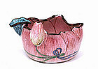 Old Chinese Export Enamel Cloisonne Lotus Flower Cup