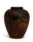 Old Japanese Totai Bark Tree Cloisonne Vase