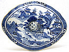 19C Chinese Export Canton Blue & White Tureen
