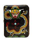Old Chinese Cloisonne Enamel Dragon Cigarette Case