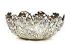 Chinese Export Wang Hing Silver Reticulated Iris Bowl