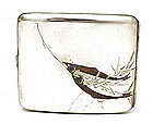 Old Japanese Mixed Metal Silver Fish Cigarette Case Sg