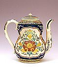 Meiji Japanese Gosu Satsuma Teapot w Flower Sg
