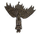 Meiji Japanese Bronze Flying Wing Dragon Okimono