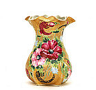 Old Japanese Nippon Moriage Gold Beaded Flower Vase