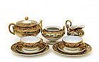9 Old Japanese Nippon Flower Tea Set Teapot