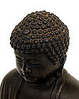 Old Japanese Bronze Buddha Daibutsu Figurine Okimono