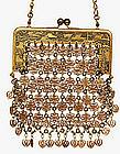 Old Japanese Mix Metal Komai Style Mesh Purse Handbag