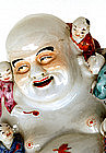 Old Chinese Famille Rose Happy Buddha Kids Figurine