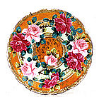 Old Japanese Nippon Gold Moriage Rose Plate Mk