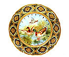 Old Japanese Nippon Hand Painted Plate Bird Duck