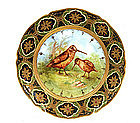 Old Japanese Nippon Hand Painted Plate Bird