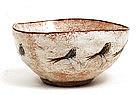 Polia Pillin White Glaze Bird Bowl Sg