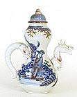 Meiji Japanese Hirado Dragon Winepot Teapot
