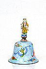 Old Chinese Export Enamel Cloisonne Bell Figure Buddha