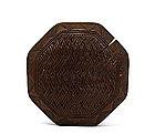 Old Japanese Wood Manju Netsuke Basket Sg