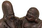 Japanese Bizen Pottery Ceramic Hotei Figure Figurine