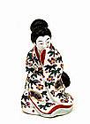 Japanese Kutani Geisha Figurine Figure Erotic Nude