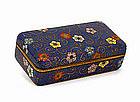 Old Japanese Ando Cobalt Cloisonne Mille Fleur Box