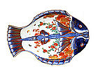 Old Japanese Imari Double Fish Plate Mk