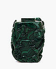 Old Chinese Malachite Snuff Bottle w Flower