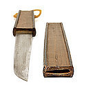 Japanese Conceal Tanto Sword Knife Lacquer Fan Samurai