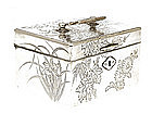 Japanese Wood Silver Box Chest Casket Case