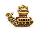 Japanese Kutani Satsuma Style Dragon Boat w Pagoda Mk
