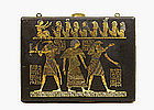Japanese Mixed Metal Iron Compact Case Egyptian Egypt