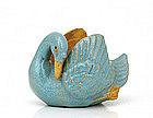 Chinese Export Mudman Mud Man Men Bird Shiwan Bowl