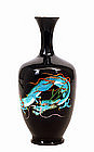 Old Japanese Ginbari Cloisonne Dragon Vase