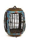 Old Japanese Champleve Cloisonne Bird Cage Basket