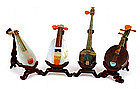 17 Chinese Jade Stone Mini Music Instrument Pipa