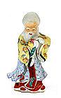 Chinese Famille Rose Buddha Figure Figurine Mk