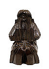 Old Japanese Bronze Noh Dancer Figure Figurine
