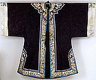 19C Chinese Lady Silk Embroidery Robe Textile