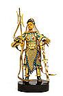 Chinese Gilt Filigree Silver Enamel Figure Sword
