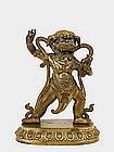 19C Chinese Tibetan Gilt Bronze Buddha Quan Kwan Yin