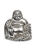 Old Chinese Silver Buddha Quan KwanYin Figure Figurine