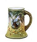 Japanese Nippon Moriage Stag Elk Deer Mug Stein Mk