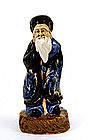 Old Japanese Sumida Gawa Man Figurine Figure