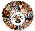 Japanese Imari Tapestry Chrysanthemum Punch Bowl