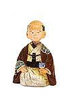 Old Japanese Banko Nodder Doll Samurai Figurine