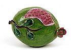 Chinese Export Famille Rose Altar Fruit Pomegranate