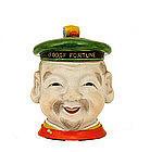 Japanese Banko Ware Sailor Figurine Humidor Box
