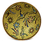 Old Japanese Cloisonne Bowl with Phoenix Bird Mk